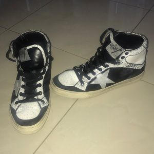 Golden Goose 38 women's black and white high top